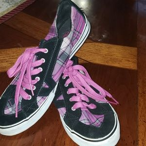 Shoes - Purple Checkered Vans
